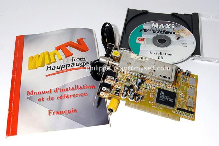 Carte d'acquisition WinTV Video. 15€