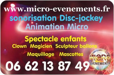 animation sonorisation dj spectacle enfants clown magie sculptures ballons