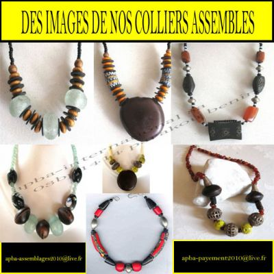 CONFECTION DE COLLIERS A DOMICILE