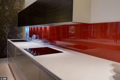 Credence de cuisine d corative inox verre verre de for Credence couleur cuisine