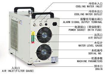 S&A CW-5000 water chiller for cooling dental CNC engraving machine