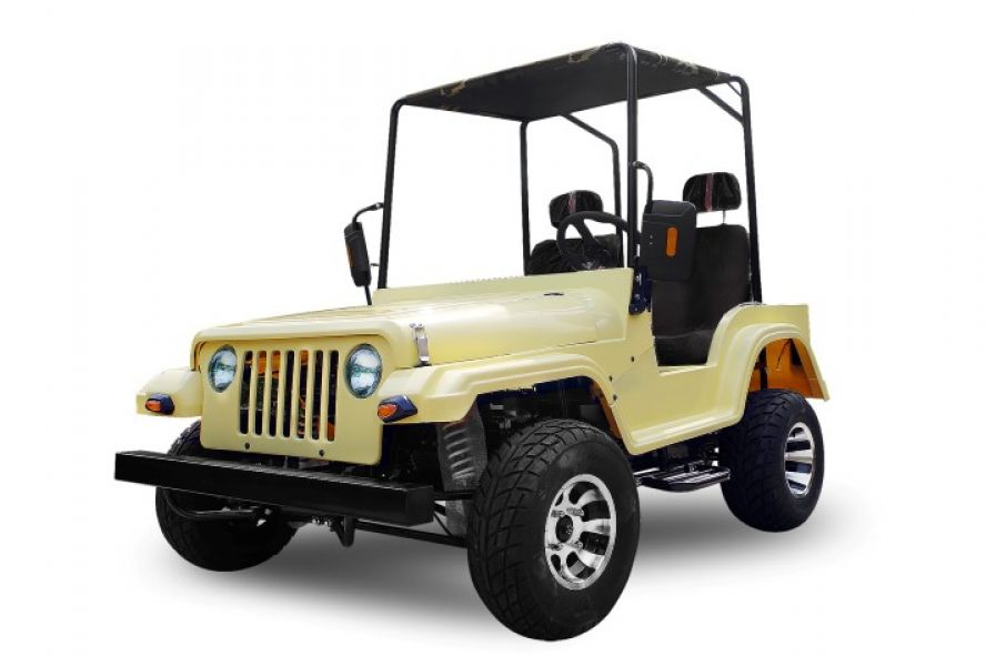 Jeep willys 200cc offroad boite auto + MA  avec treuil electrique