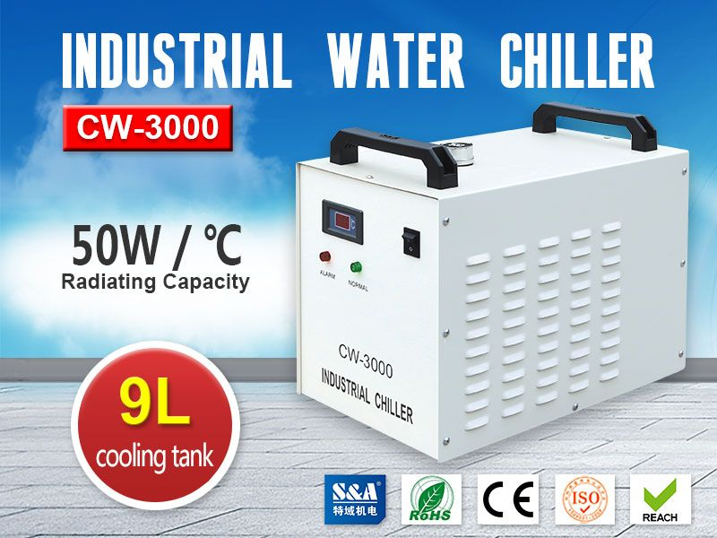 S&A Industrial Water Chiller CW-3000 for CNC Spindle Engraving Machines