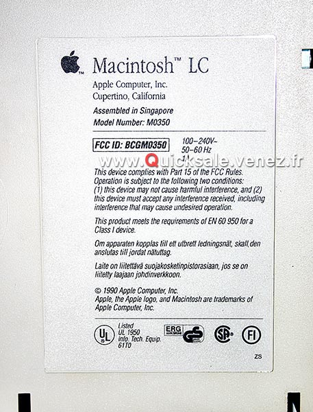 Apple Macintosh LC (Collector) de 1990